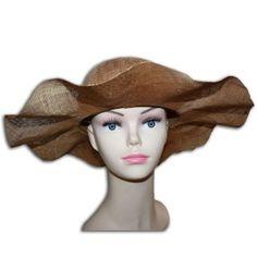 chapeau de cérémonie marron