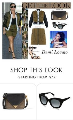 """""""Demi Lovato LAX Airport in Los Angeles CA June.17.2017"""" by valenlss ❤ liked on Polyvore featuring Alexander Wang, Kate Spade and Gianvito Rossi"""