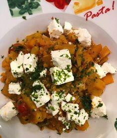 fischis cooking and more: kürbis - linsen - gulasch mit feta Feta, Restaurant, Goulash, Lentils, Restaurants, Supper Club, Dining Room