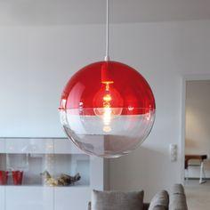 Koziol - Orion Pendelleuchte, transparent rot, 64,95 - gibt es auch noch in schwarz und weiß