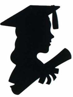 "Girl Graduate Silhouette - 30.5cm  Code: DCSGG  Girl Graduate Silhouette - 20.3cm x 30.5cm (8"" x 12"") £0.65"