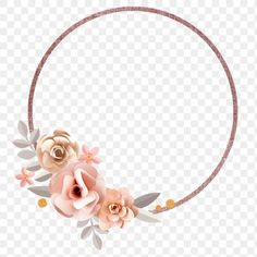 Pastel Papercraft Flower Round Badge Design Element Premium Image By Rawpixel Com Minty Badge Design Design Element Flower Frame