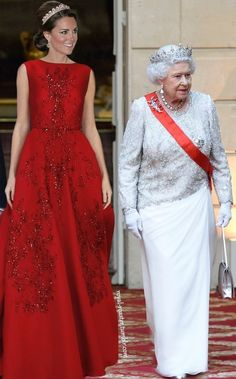 Catherine and The Queen October 2015