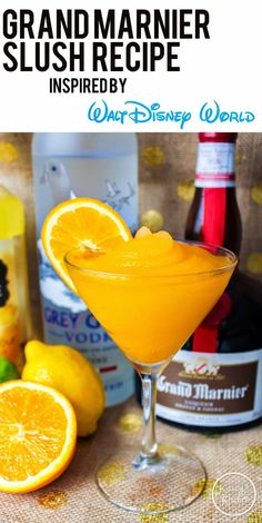Drinking Around Epcot Guide Plus Frozen Grand Marnier Slush Recipe Grand Marnier, Gran Marnier Drinks, Disney Drinks, Frozen Drinks, Disney Food, Disney Recipes, Walt Disney, Summer Drinks, Cocktail Drinks