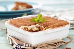 Authentic Tiramisu Recipe from Italy - Delicious Food Recipes Authentic Tiramisu Recipe, 3 Quart Baking Dish, Bariatric Recipes, Unsweetened Cocoa, Flan, Italian Recipes, Yummy Food, Favorite Recipes, Italy
