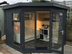Studio Corner Garden Studio by Malvern Garden Buildings Studio Corner Garden Studio by Malvern Garden Buildings . 30 Breathtaking Tiffany & Co. 9 x 9 Waltons Premier Corner Summerhouse Backyard Office, Outdoor Office, Backyard Studio, Garden Office, Garden Studio, Outdoor Rooms, Outdoor Sheds, Corner Summer House, Summer House Garden