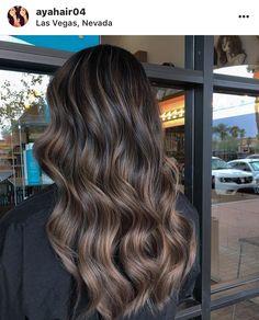 Brown Hair Balayage, Brown Blonde Hair, Hair Color Balayage, Hair Color For Black Hair, Brunette Hair, Hair Highlights, Dark Hair, Hair Inspiration, Hair Inspo