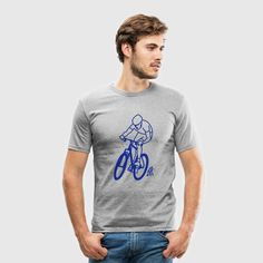 MTB T-shirt.#MTB #ATB #VTT #Tshirt #Spreadshirt #Cardvibes #Tekenaartje #SOLD