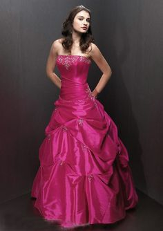 wedding and prom dresses | Home > Special Occasion Dresses > Prom Dresses > Princess magenta pick ...