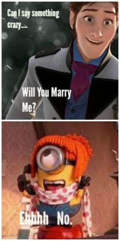 I don't know if I Gould put this in Disney or minions but it's SOOO funny so... I might as well put it in both :)