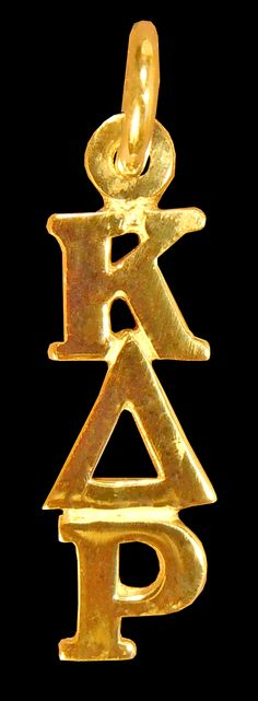 Kappa Delta Rho Fraternity 14k Gold Greek Letter Drop Lavalier available in Good Things From Louisiana, an ebay store.