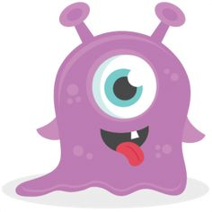 Baby Monster: Miss Kate Cuttables-- SVG scrapbook cut file cute clipart files for silhouette cricut pazzles free svgs free svg cuts cute cut files