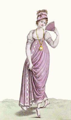 1801. Victorian Era Fashion, 1800s Fashion, Europe Fashion, Fashion History, Vintage Fashion, Regency Dress, Regency Era, Empire Fashion, Empire Style