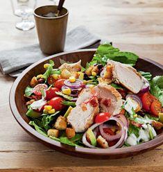 Salát s kuřetem a avokádem Caprese Salad, Cobb Salad, Low Fodmap, Potato Salad, Healthy Recipes, Healthy Food, Good Food, Potatoes, Fresh