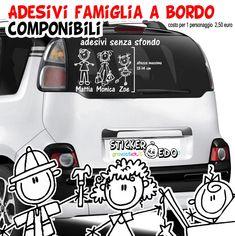 famiglia a bordo, adesivi famiglia 50 Euro, Vehicles, Car, Automobile, Autos, Cars, Vehicle, Tools
