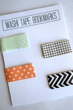 magnetic washi bookmarks