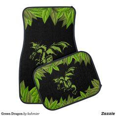 Green Dragon Car Floor Mat Car Mats, Car Floor Mats, Green Dragon, Christmas Card Holders, Design, Gifts, Products, Presents, Gifs