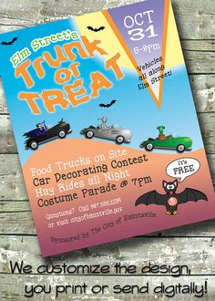 Trunk or Treat HALLOWEEN PARTY 5x7 Invite by DitDitDigital