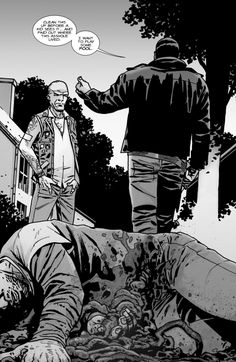 Negan and Spencer Walking Dead Comic Book, Walking Dead Characters, Walking Dead Comics, Walking Dead Series, Twd Comics, Dead Zombie, Zombie Zombie, The Walking Death