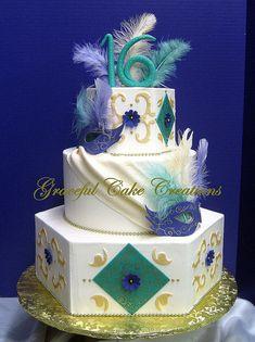 Masquerade Ball Themed Sweet 16 Birthday Cake
