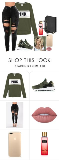 """Down-fifth harmony"" by bosslanaia ❤ liked on Polyvore featuring NIKE, Lime Crime, Victoria's Secret and Michael Kors"