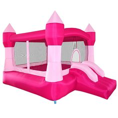 Cloud 9 Princess Bounce House - Inflatable Pink Castle without Blower Cloud 9 Bouncers' Princess Bounce castle measures deep, wide and tall when fully Inflatable Bounce House, Inflatable Bouncers, Princess Toys, Pink Princess, Princess Bounce House, Cute Spiral Notebooks, Kids Castle, Kids Toys For Boys, Baby Doll Nursery
