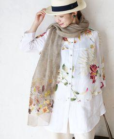 【楽天市場】【再入荷♪5月28日12時&22時より】「french」セレブな花柄リネンシャツトップス:cawaii