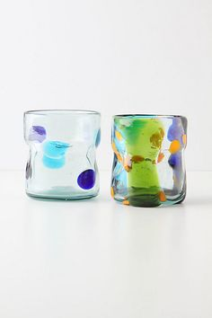 Pinched Dots Glass, Orange #anthropologie