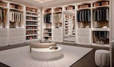 Personal, flexible, trendy walk-in closet design. Every person loving style & design, desires in her own home a walk-in closet. Francesco Pasi knows it well. Walk In Closet Design, Bedroom Closet Design, Master Bedroom Closet, Closet Designs, Home Room Design, Dream Home Design, Home Interior Design, Closet Rooms, Interior Colors