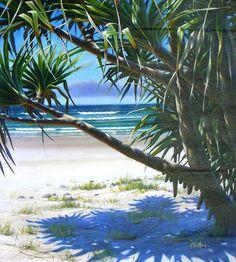Sea Paintings, Painting Portraits, Koi Tattoo Design, Australian Art, Beach Art, Art Tutorials, Painting Inspiration, Acrylics, Pastels