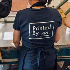 All of our products are hand printed by someone in recovery from homelessness and other difficult circumstances.  Through Printed By Us they have learnt new skills and are moving forward towards employment.  All of our income is reinvested back into Printed By Us.  Check out our about page on our website for more info!  #printingpositivechange #printedbyus