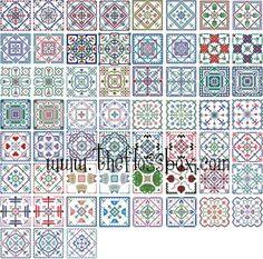 Biscornu Cross Stitch Pattern Pack 2 by Theflossbox on Etsy