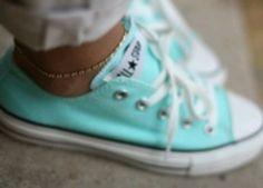 Tiffany blue chucks <3