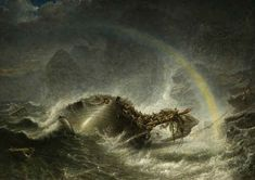 The Shipwreck Francis Danby Wolverhampton Art Gallery Oil Painting Gallery, Art Gallery, Battle Of The Nile, Francesco Guardi, St Clare's, Stormy Sea, Rainbow Painting, Oil Painting Reproductions, Art Uk