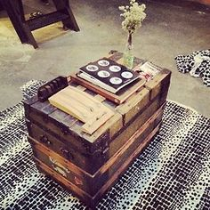 Lust For Life - Love this old trunk / table