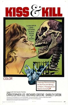 Horror Movie Posters, Original Movie Posters, Movie Poster Art, Horror Films, Cinema Posters, Music Posters, Tsai Chin, Richard Greene, Shirley Eaton