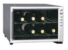 8 bottle wine cooler with horizontal storage.