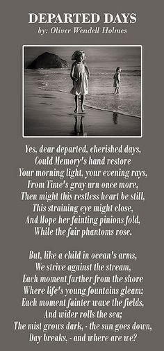 Departed Days- Oliver Wendell Holmes