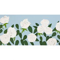 White Roses - Alex Katz - Weng Contemporary https://www.wengcontemporary.com/shop/product/white-roses #alexkatz #whiteroses #wengcontemporary #buyonline #print #silkscreen