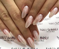 Fabulous Nails, Gorgeous Nails, Love Nails, How To Do Nails, Pretty Nails, My Nails, Almond Acrylic Nails, Almond Shape Nails, Long Almond Nails