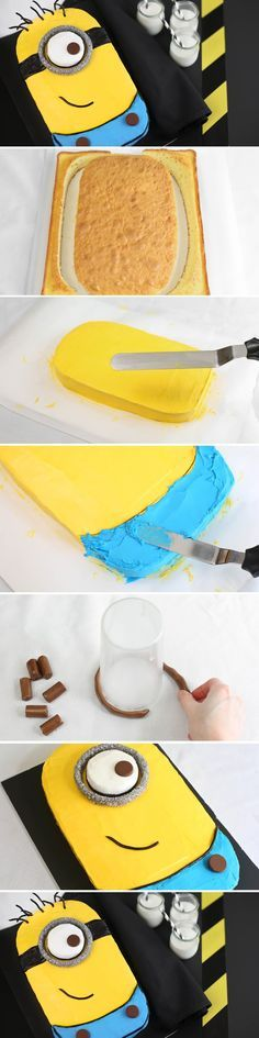 How To Make Despicable Me Minion Cake. Who's gonna make this for me??