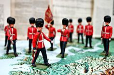 This British vintage toy soldiers can be seen in our collection of toy soldiers! See which ones are fighting who today! #BerkshireCollects