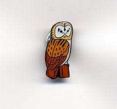 BARN OWL ENAMEL PIN BADGE NEW  | eBay