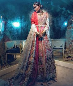 Pakistani couture Saira Shakira Bridals S/S 2016 Asian Wedding Dress, Pakistani Wedding Dresses, Pakistani Bridal, Bridal Dresses, Flowy Dresses, Eid Dresses, Pakistan Fashion, India Fashion, Asian Fashion