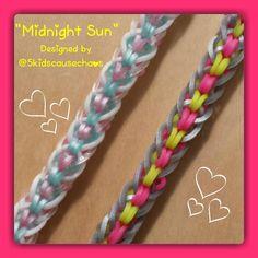 """Midnight Sun"" Rainbow Loom Bracelet/How To Tutorial"