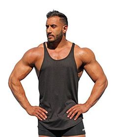 525ee4b99c53b Physique Bodyware Men s Blank Y-Back Stringer Tank Top XL Iron Black   Physique Bodyware s exclusive blank men s y back stringer tank tops are  preferred by ...