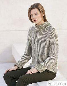 Book Woman Concept 4 Autumn / Winter | 50: Woman Sweater | Pale green / Beige