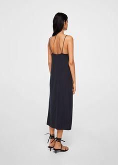 Modalna haljina u stilu negližea - Žene Lingerie, Green Dress, Mango, Dress Skirt, Camisole, Ideias Fashion, Cold Shoulder Dress, Couture, Lace