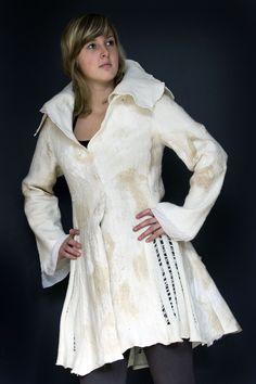 sharit's posterous - Home Body Adornment, Wool Felt, Designer Dresses, Charity, Textiles, Felting, Van, Felt Projects, Fiber Art