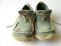 cute crochet slippers for little boys